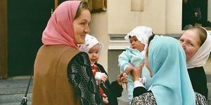 Russian women with their babies in Vladivostok